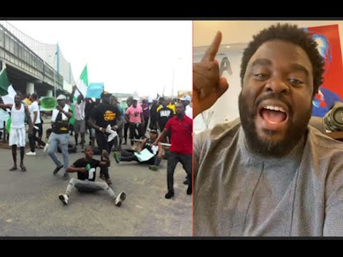 Buhari I Tell U This Going To Happen:Actor Aremu Afolayan As EndSARS Protesters Block Roads In Lagos