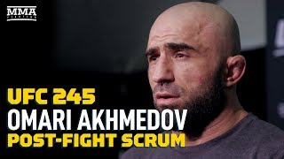 Omari Akhmedov Calls Out 'Legend' Yoel Romero After UFC 245 - MMA Fighting by MMA Fighting