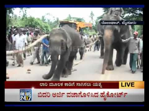 Video SUVARNA NEWS - OPERATION ELEPHANT - SITUATION UNDER CONTROL download in MP3, 3GP, MP4, WEBM, AVI, FLV January 2017