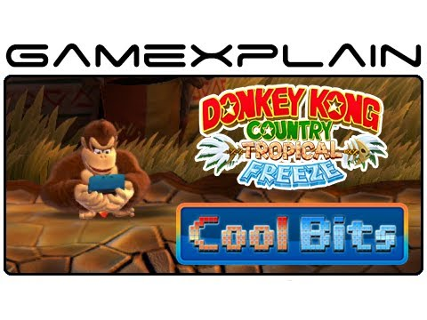 Idle - http://www.GameXplain.com Cool Bits: Donkey Kong Country: Tropical Freeze is a super detailed game, and this extends to the idle animations, which have secre...