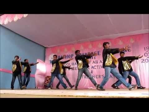 Bishop Ambrose College fresher's day 2013 boys dance