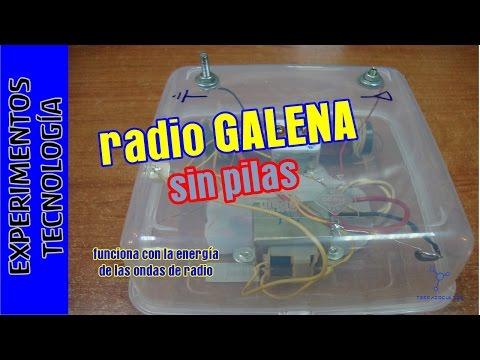 Radio que funciona SIN pilas ni corriente. Radio galena