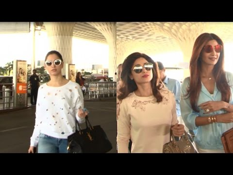 Tamannaah Bhatia, Shilpa Shetty And Shamita Shetty Spotted On Mumbai Airport