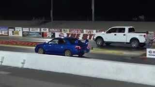 2006 WRX STI vs 2010 Ford F150 5.4L v8 1/4 Mile