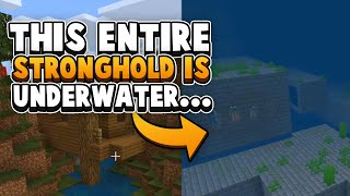 This ENTIRE Stronghold Is Underwater - Minecraft Bedrock Seed