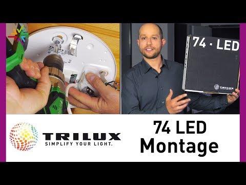 TRILUX LED Anbauleuchte 74R 74Q  - Montagevideo