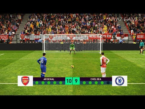 ARSENAL vs CHELSEA | Penalty Shootout | PES 2019 Gameplay PC