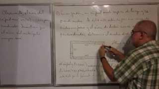 Algebra Elemental - Lección 45 - A (problemas Verbales Geométricos)