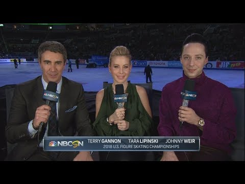Johnny Weir, Tara Lipinski and Terry Gannon at U.S. Nats 2018