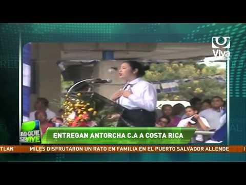 Antorcha centroamericana fue entregada a Costa Rica