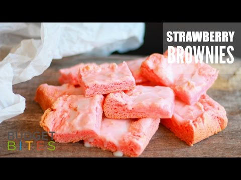 Strawberry Brownies | Budget Bites