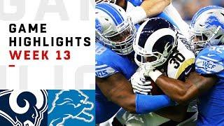 Rams vs. Lions Week 13 Highlights | NFL 2018