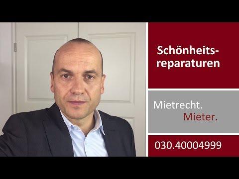 Schönheitsreparaturen - Mieter will Renovierung vom Vermieter | Fachanwalt Alexander Bredereck