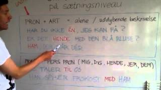 Ord UDEN tryk - del 2. Words WITHOUT stress - part 2