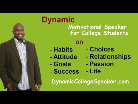 College Speakers - http://www.dynamiccollegespeaker.com Dynamic College Motivational Speaker, Motivation and breaking toxic habits, how to free yourself from toxic habits, choi...