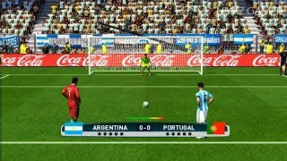 Video ARGENTINA vs PORTUGAL | Penalty Shootout | PES 2017 Gameplay MP3, 3GP, MP4, WEBM, AVI, FLV Oktober 2017