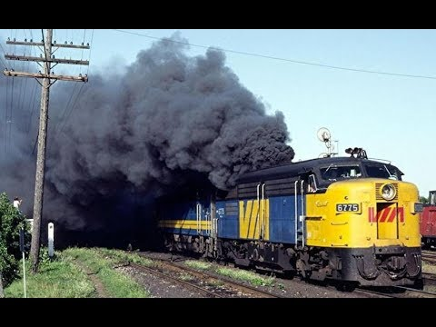 Crazy Cold Start Diesel Locomotive Engines and Sound I ALCO LOCO