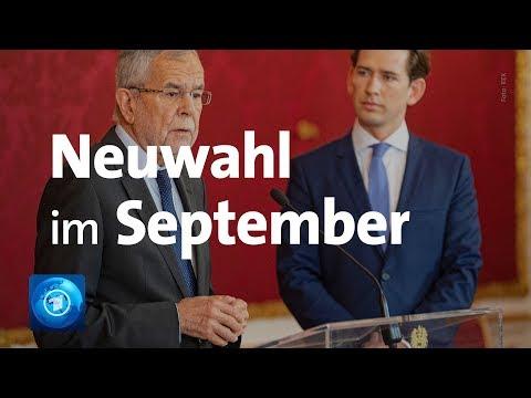 Österreich: Regierungskrise - Neuwahl für Anfang September geplant