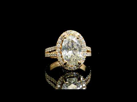AGS Certified 4.518ct Oval Brilliant Cut Diamond Ring