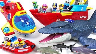 Video Jurassic World 2 huge sea dinosaur Mosasaurus appeared! Paw Patrol! Save the minions! - DuDuPopTOY MP3, 3GP, MP4, WEBM, AVI, FLV Juli 2018
