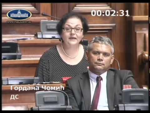 Гордана Чомић о амандманима на Предлог Закона о отклањању последица од поплава (2)