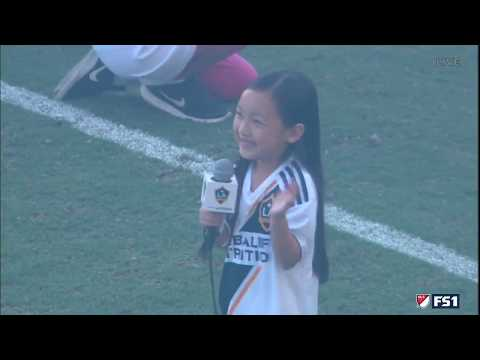 Video: 7-year-old Malea Emma absolutely crushes the National Anthem before LA Galaxy vs. Seattle Sounders