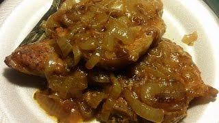 How To Make Smothered Pork Chops with onions and gravy Smothered Pork Chops Recipe Soak your pork chops in some salt...