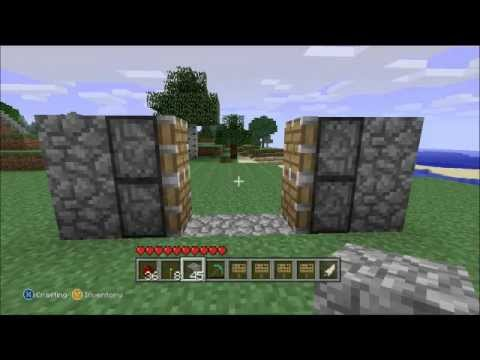 Minecraft Beginner's Tutorial: Build a simple hidden entrance.