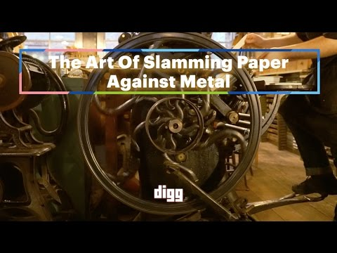 The Art Of Slamming Paper Against Metal