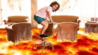 FLOOR IS LAVA PARKOUR CHALLENGE! (Hot Lava)
