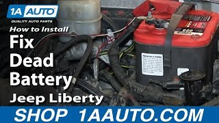 How To Install Replace Fix Dead Battery 2002-07 Jeep Liberty