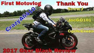 5. MY NEW BIKE | First Time Riding | Black 2017 Suzuki GSX-R 600 vlog 007