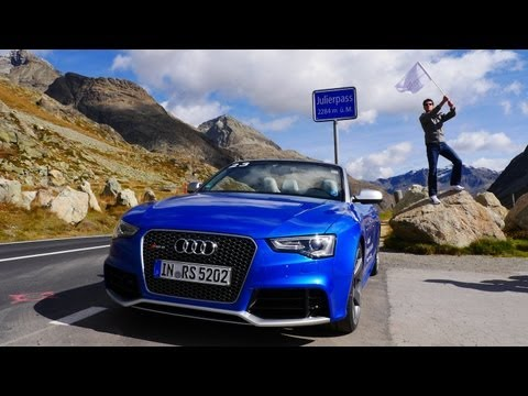 Audi RS5 Cabriolet quattro test drive review with landscape – Autogefühl Autoblog