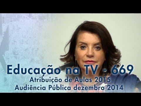 Atribuição de aulas 2015 - Audiência Pública Dez/2014