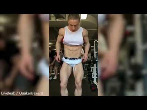 超狂的外國健美女子「全身體脂肪0%」,魔鬼筋肉人的身材讓男生都跪著膜拜!