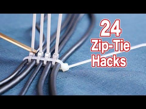 提供如何善用束線帶的24個方法 Use Zip Tie