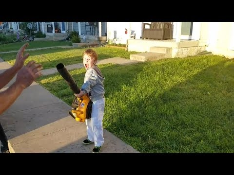 Leaf Blower Turns Kid Into Supervillain