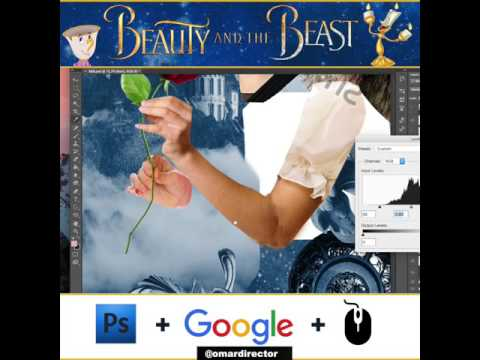 Beauty and the Beast - Movie poster Creation with (google only) New