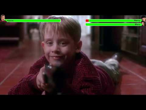 It's the Home Alone fight seen but with health bars