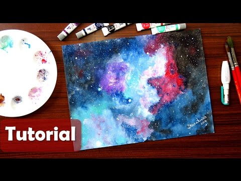 Cómo Pintar Una GALAXIA Con Acuarelas - Galaxy In Watercolor