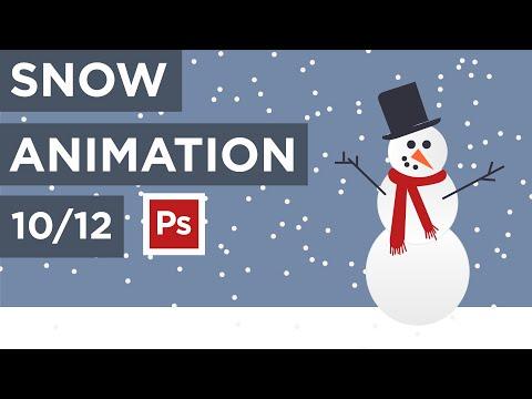 10:12 - EASY Snow GIF Animation in Photoshop - Easy Beginner Tutorial - Maker Lex