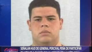 Vinculan hijo de general Pércival Matos al atraco a camión de valores en Bella Vista