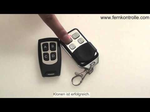 Universal Handsender mit Kopierfunktion  Fernbedienung Remote Control AutoGaragentor 433 MHz.