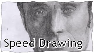 Hannibal Lecter Speed Drawing | NBC's Hannibal