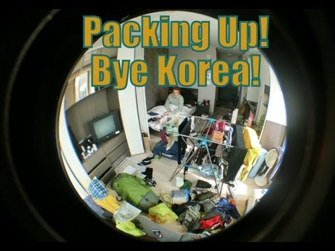 Moving out from our apartment in Korea to travel