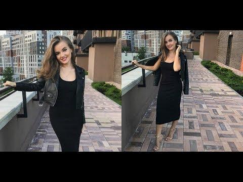 OOTD: black leather jacket & black maxi dress