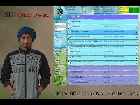 How to Ofline Laptop/Computer SDI Driver Update Install Easily Snappy Driver Installer Walkthrough