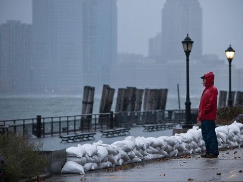 battery park - Hurricane Sandy: the view from Battery Park in New York With Hurricane Sandy approaching the US east coast Guardian reporter Adam Gabbatt heads to Battery Pa...