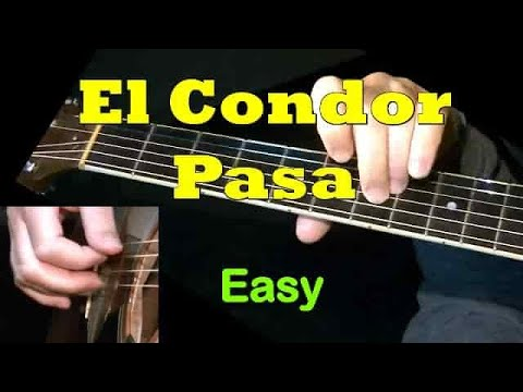 El Condor Pasa – super easy WITH TAB! Guitar lesson, learn to play