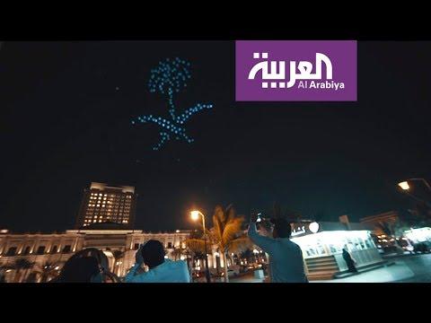 العرب اليوم - شاهد: تهنئة مذهلة وغير مسبوقة برمضان في السعودية